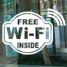free wi-fi inside window stickers