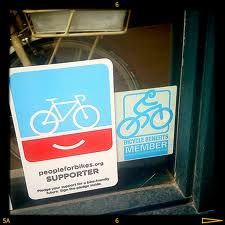 bicycles window stickers