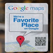 google maps window stickers
